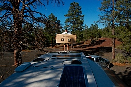 Our RV solar panel installation is complete.