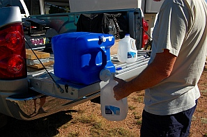 Getting drinking water for dry camping
