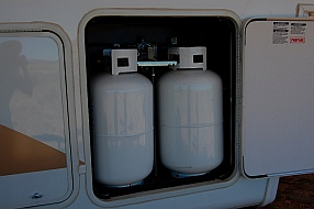 When we drycamp or boondock, many of our power needs are met by propane