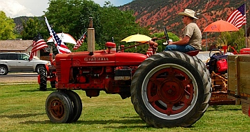Tractor show at Iron Country Fair, Parowan, Utah