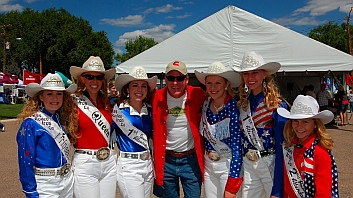 Rodeo Queens at Iron Country Fair, Parowan, Utah