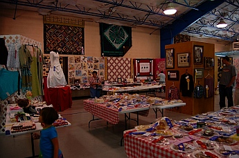 Crafts on display at Iron Country Fair, Parowan, Utah