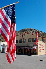 full time RV - Pioche Nevada Overland Hotel where we boondock in our fifth wheel RV