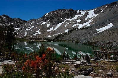 Fulltime RV travels at Arrowhead Lake near Mammoth Lakes CA California