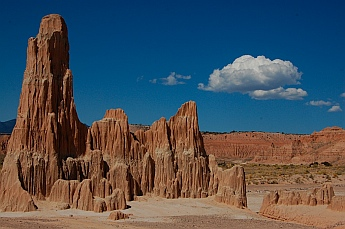 Sandstone spires in Cathedral Gorge State Park outside Pioche Nevada