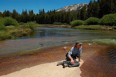 Fulltime RV living at Dog Lake near Tuomomne Meadows in Yosemite National Park CA California