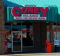 Coney Island hot dogs in Detroit Michigan