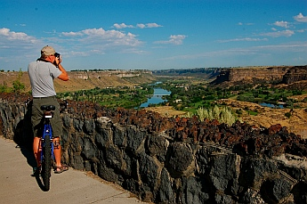 Snake River overlook Twin Falls ID