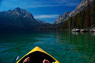 Redfish Lake Idaho kayaking