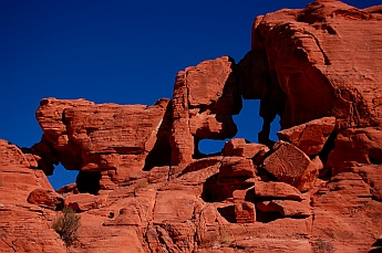 Arches in Atlatl Campground, Valley of Fire State Park