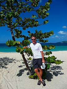 Mark at Grand Anse Beach