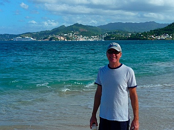 Mark with St. George's Grenada behind him.
