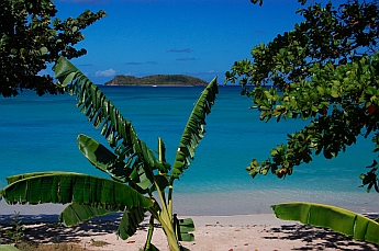 View of the Grenadines from Paradise Beach on Carriacou in Grenada