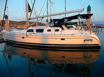 sv Groovy in her new slip in Ensenada, home for the next six monthgs