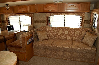 We opened the jackknife sofa all the time in our 27' Fleetwood Prowler Lynx 270FQS when we were living in that RV fulltime