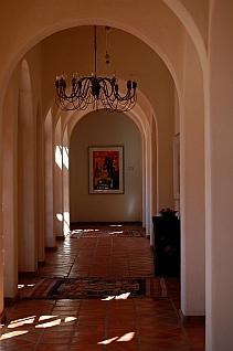 Adobe Guadalupe Winery and B&B arched hallways