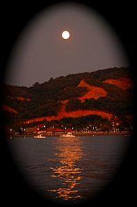 The evening before a lunar eclipse at Isla Ixtapa - Isla Grande - Isla de Ixtapa - Ixtapa Island, Melia Resort, Guerrero, Mexico