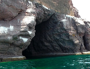 Sea cave, Ensenada de la Ballena / Bahia Berrendo, Baja California Sur, Sea of Cortez, Mexico