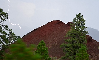 Lightning in Coconino National Forest outside Sunset Crater National Monument
