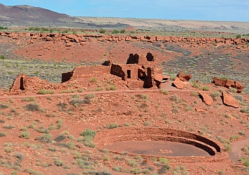 Wupatki Pueblo and Kiva at Wupatki National Monument, Flagstaff, AZ