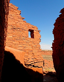 View from inside Wupatki Pueblo, Wupatki National Monument.