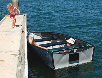 The Porta-bote is light and maneuverable.