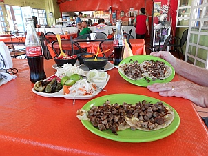 Awesome taco dinner with real coke at Super Burrito in La Paz, BCS, Mexico for 8 USD total.