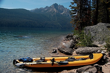 Our Hobie i14t inflatable tandem kayak at Redfish Lake, Idaho