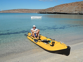 Sea of Cortez (Bahia Falsa) with our Hobie i14t inflatable tandem kayak