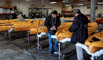 Kayak factory at Hobie Cat in Oceanside, Caliornia.