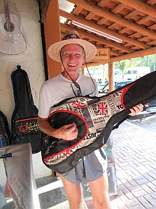 Mark finds the perfect Beatles guitar case in Zihuatanejo, Mexico.s