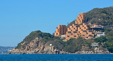 Vacation homes overlooking Puerto Marques outside Acapulco Bay.