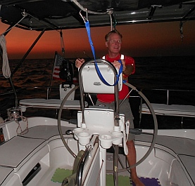 Overnight sailing on Groovy between Acapulco and Huatulco
