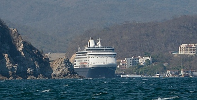 Cruise Ship Statandem at Huatulco harbor, Mexico