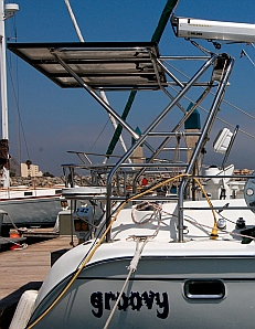 This page describes our solar panel installation on our sailboat, a Hunter 44DS.  This setup has allowed us to anchor out almost exclusively.