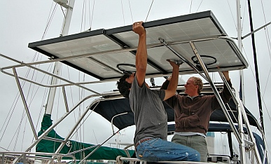 Marine solar power system installation