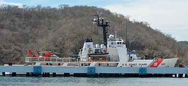 Coast Guard visits the cruise ship dock at Santa Cruz, Huatulco, Mexico
