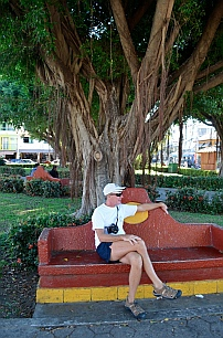 Picture perfect town square in La Crucecita, Bays of Huatulco, Mexico