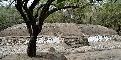 Small Zapotec pyramid temple in Copalita, las Bahías de Huatulco, Mexico