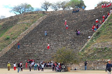 Tall stairs at Monte Alban, Oaxaca, Mexico