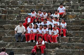 Schoolkids at Monte Alban, Oaxaca, Mexico