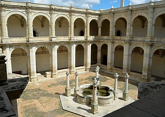 Courtyard of the Oaxaca Cultural Center in Santo Domingo Cathedral