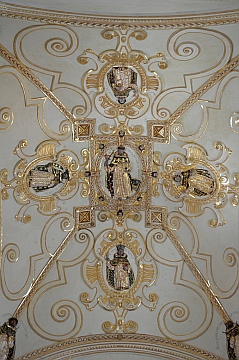 Ceiling decoration at Oaxaca Cultural Center in Santo Domingo Cathedral