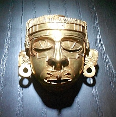 Gold Mixtec artwork from Tomb #7 at Monte Alban on display at Oaxaca Cultural Center in Santo Domingo Cathedral