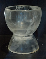 Crystal urn from Tomb #7 at Monte Alban on display at Oaxaca Cultural Center in Santo Domingo Cathedral