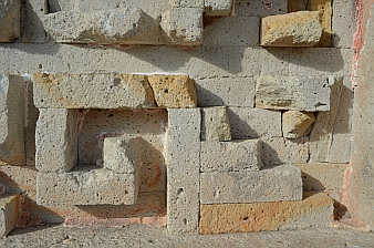 Perfect stone joinery, Mitla ruins, Oaxaca, Mexico