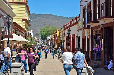 Walking streets in San Cristobal de las Casas, Chiapas, Mexico