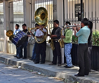 Music on the streets of San Cristobal de las Casas, Chiapas, Mexico
