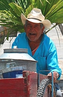 Happy old vendor, Comitán, Chiapas, Mexico