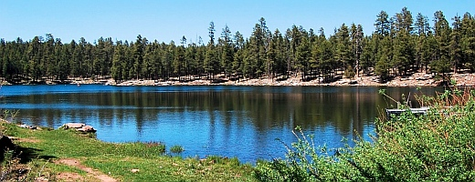 We ride our bikes down to Woods Canyon Lake on the Mogollon Rim in Arizona.